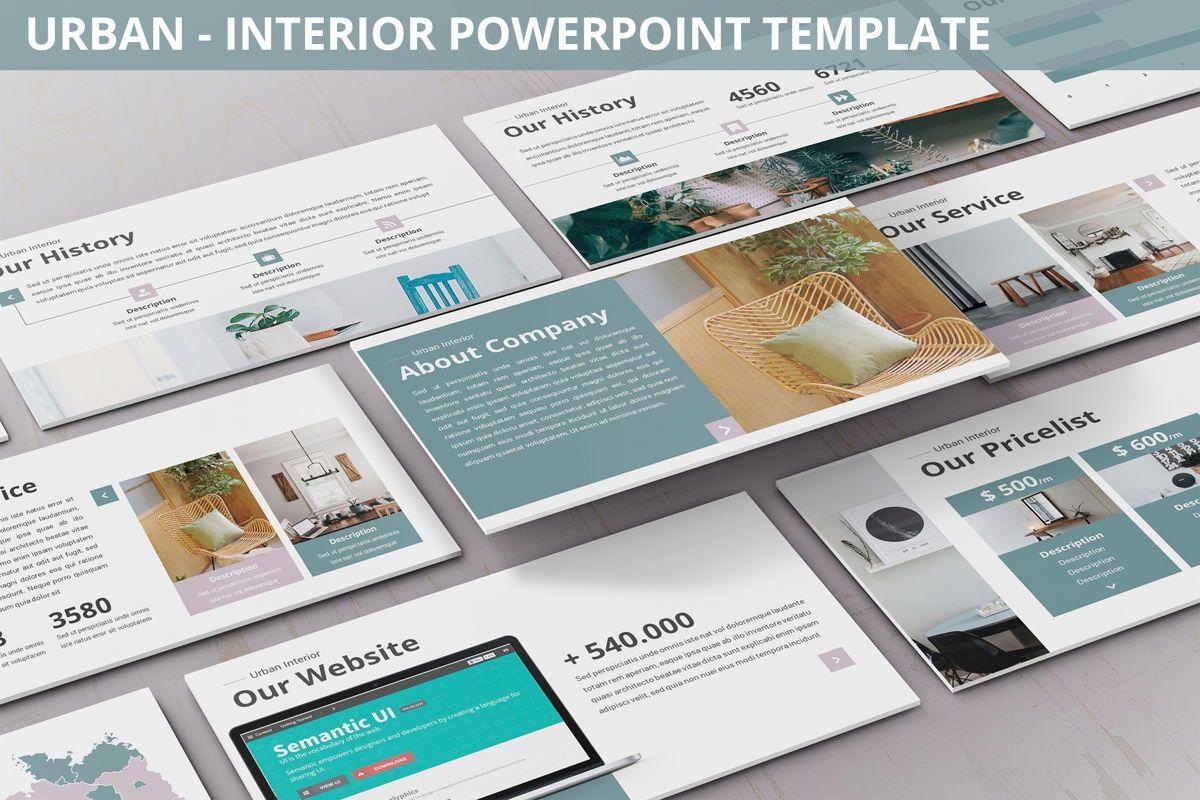 Urban - Interior Powerpoint Template, 06290, Business Models — PoweredTemplate.com