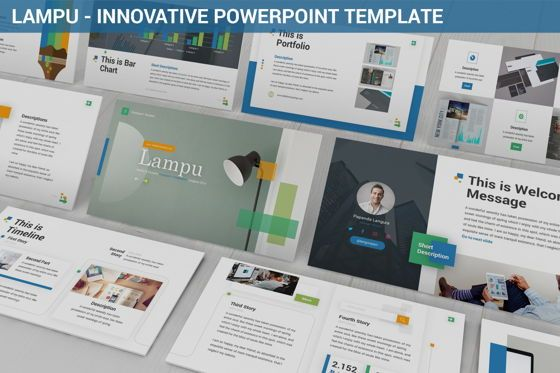 Business Models: Lampu - Innovative Powerpoint Template #06294