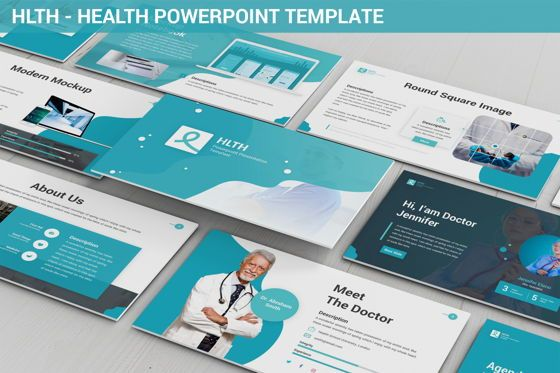Data Driven Diagrams and Charts: HLTH - Health Powerpoint Template #06295