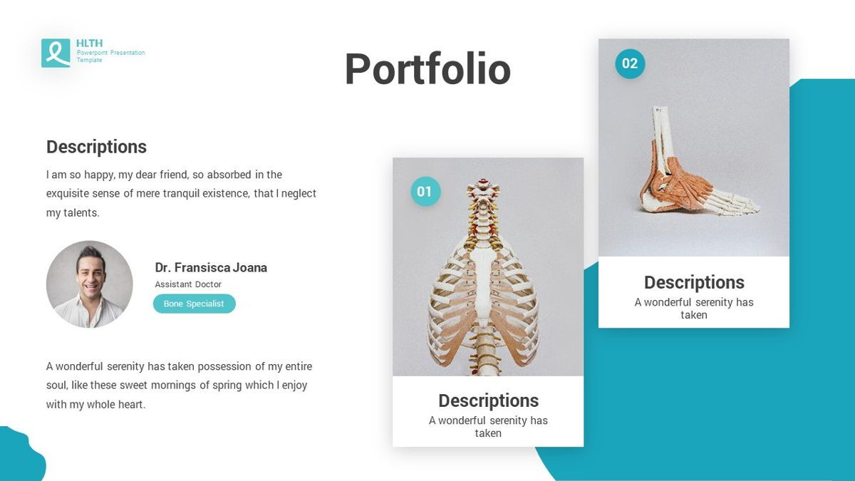 HLTH - Health Powerpoint Template, Slide 16, 06295, Data Driven Diagrams and Charts — PoweredTemplate.com
