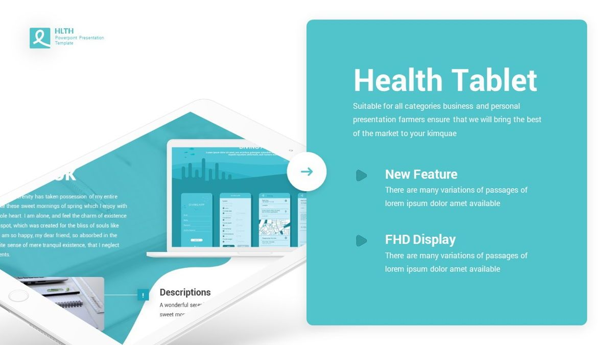 HLTH - Health Powerpoint Template, Slide 21, 06295, Data Driven Diagrams and Charts — PoweredTemplate.com