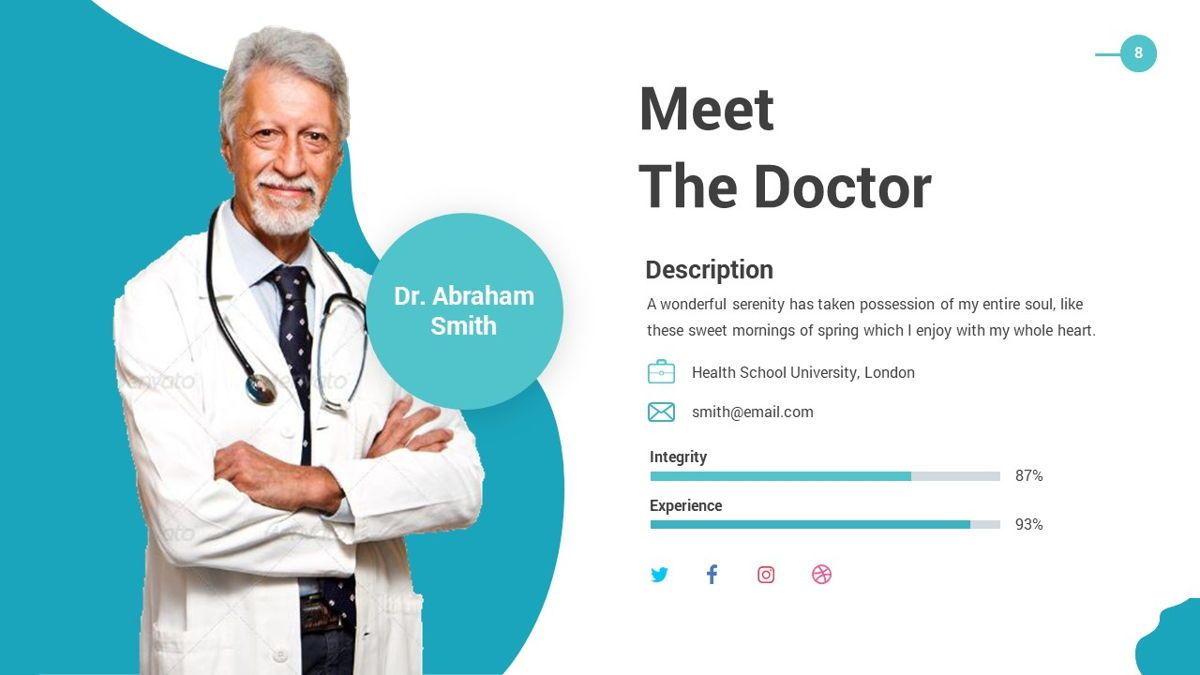 HLTH - Health Powerpoint Template, Slide 9, 06295, Data Driven Diagrams and Charts — PoweredTemplate.com