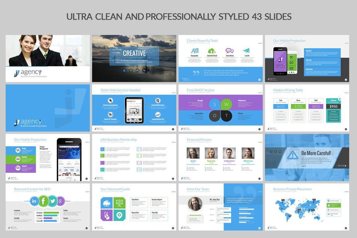 Agency PowerPoint Presentation Template, Slide 2, 06296, Infographics — PoweredTemplate.com