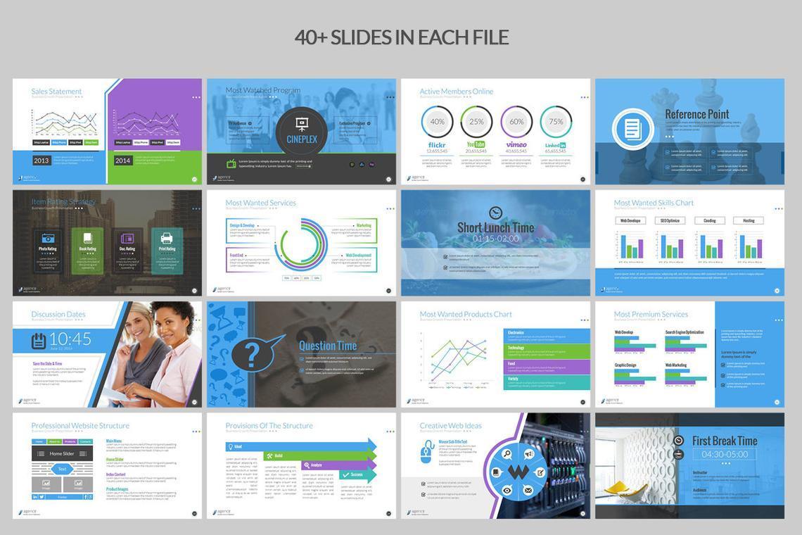Agency PowerPoint Presentation Template, Slide 3, 06296, Infographics — PoweredTemplate.com