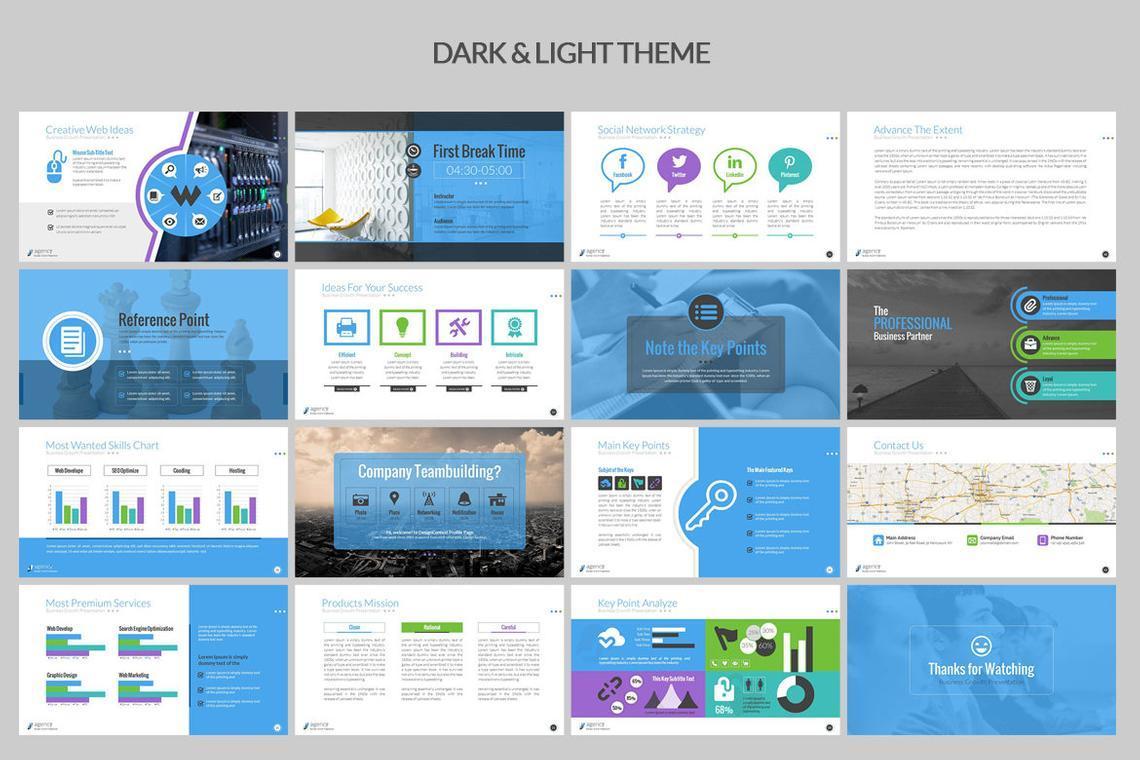 Agency PowerPoint Presentation Template, Slide 4, 06296, Infographics — PoweredTemplate.com