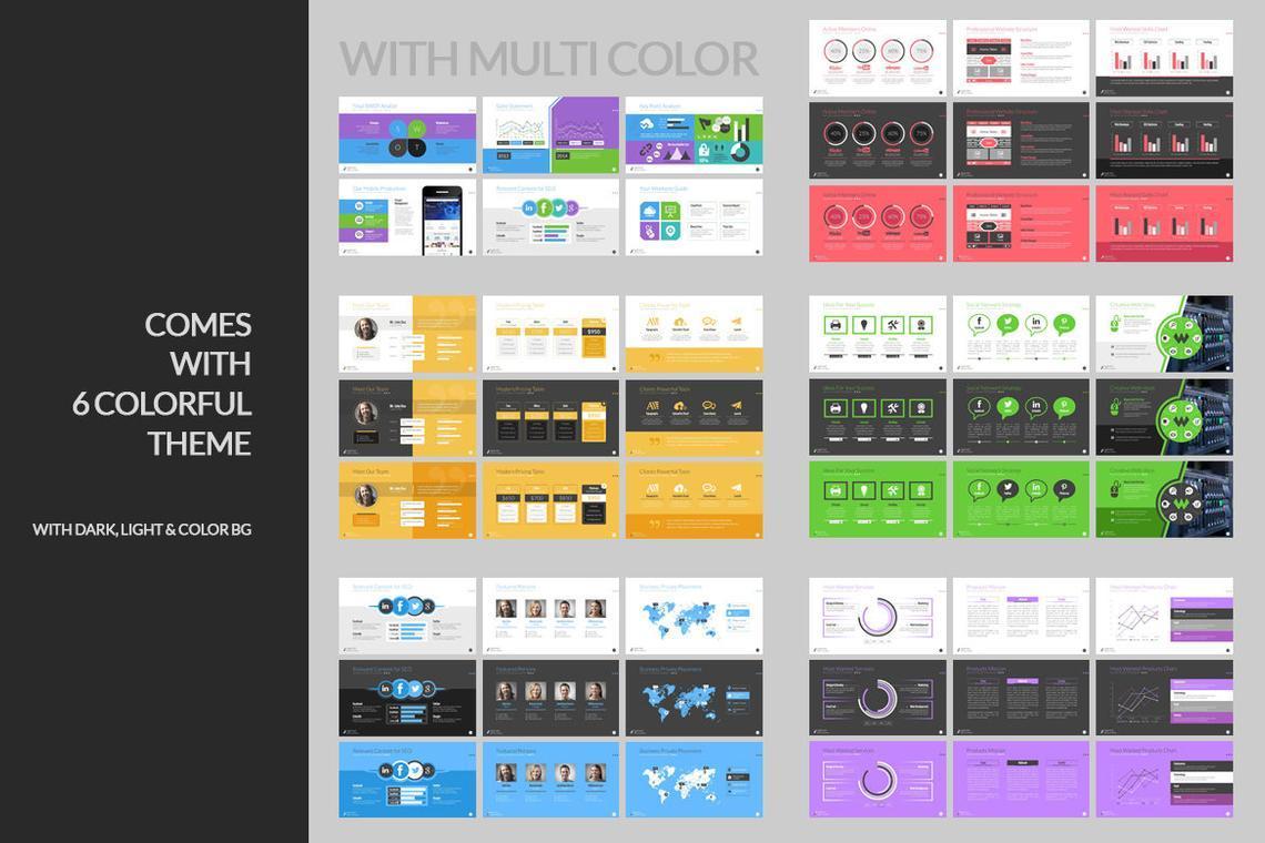 Agency PowerPoint Presentation Template, Slide 5, 06296, Infographics — PoweredTemplate.com