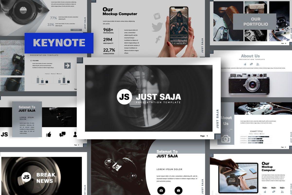 Just Saja Creative Keynote, 06305, Presentation Templates — PoweredTemplate.com