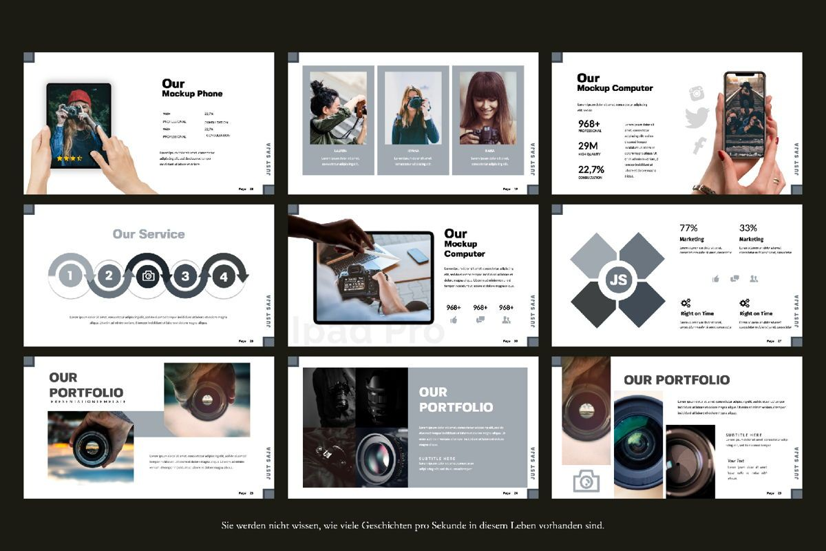 Just Saja Creative Keynote, Slide 2, 06305, Presentation Templates — PoweredTemplate.com