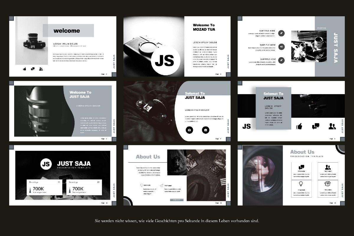 Just Saja Creative Google Slide, Slide 3, 06306, Presentation Templates — PoweredTemplate.com