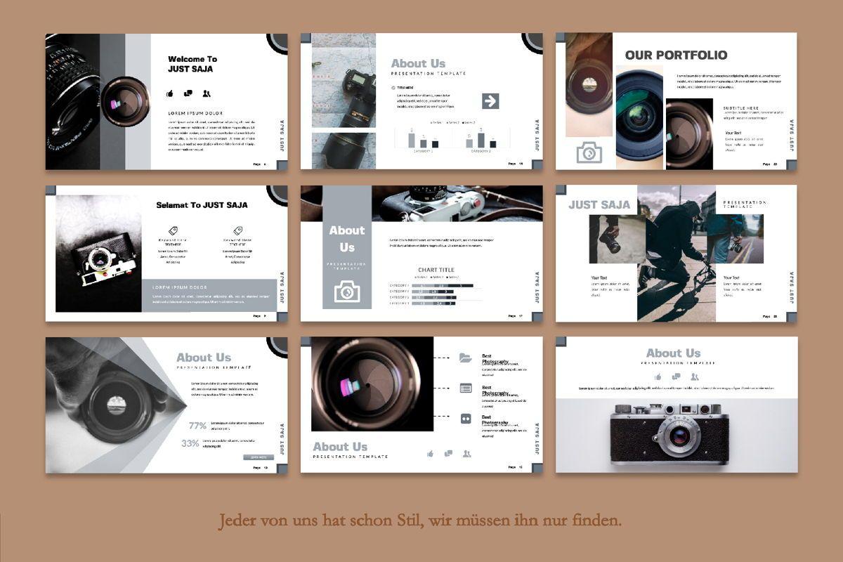 Just Saja Creative Google Slide, Slide 4, 06306, Presentation Templates — PoweredTemplate.com