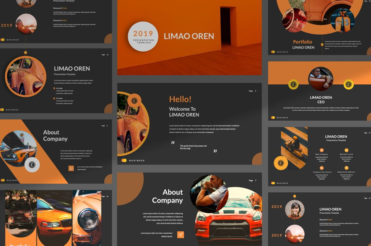 Limaou Oren Creative Keynote, 06307, Presentation Templates — PoweredTemplate.com