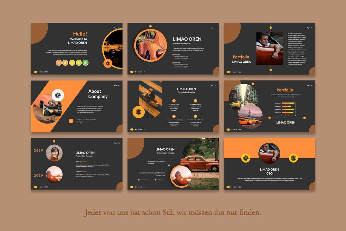 Limaou Oren Creative Keynote, Slide 4, 06307, Presentation Templates — PoweredTemplate.com