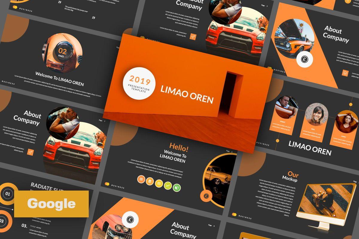 Limaou Oren Creative Google Slide, 06308, Presentation Templates — PoweredTemplate.com