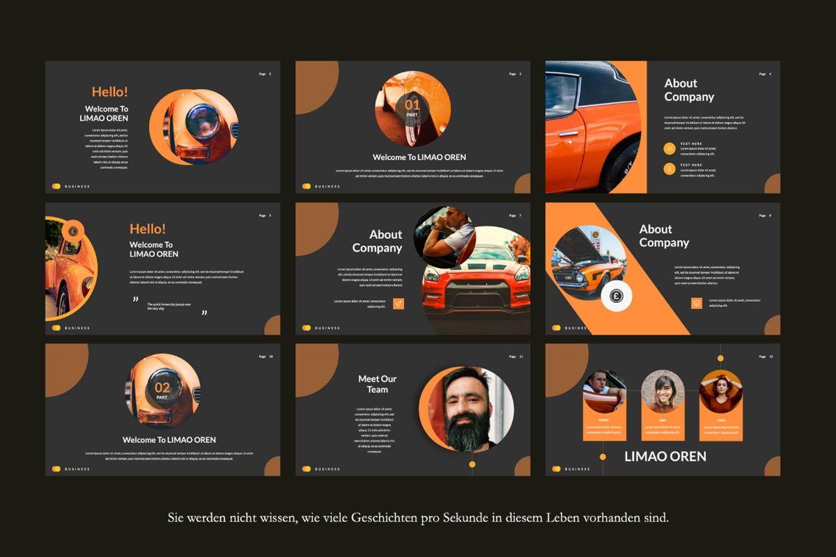 Limaou Oren Creative Google Slide, Slide 2, 06308, Presentation Templates — PoweredTemplate.com