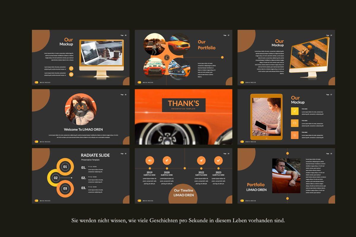 Limaou Oren Creative Google Slide, Slide 3, 06308, Presentation Templates — PoweredTemplate.com