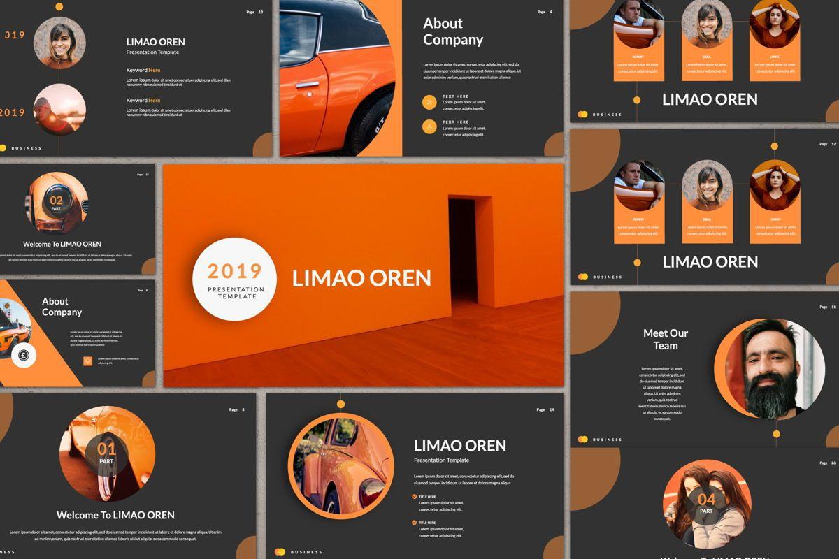 Limaou Oren Creative Powerpoint, 06309, Presentation Templates — PoweredTemplate.com