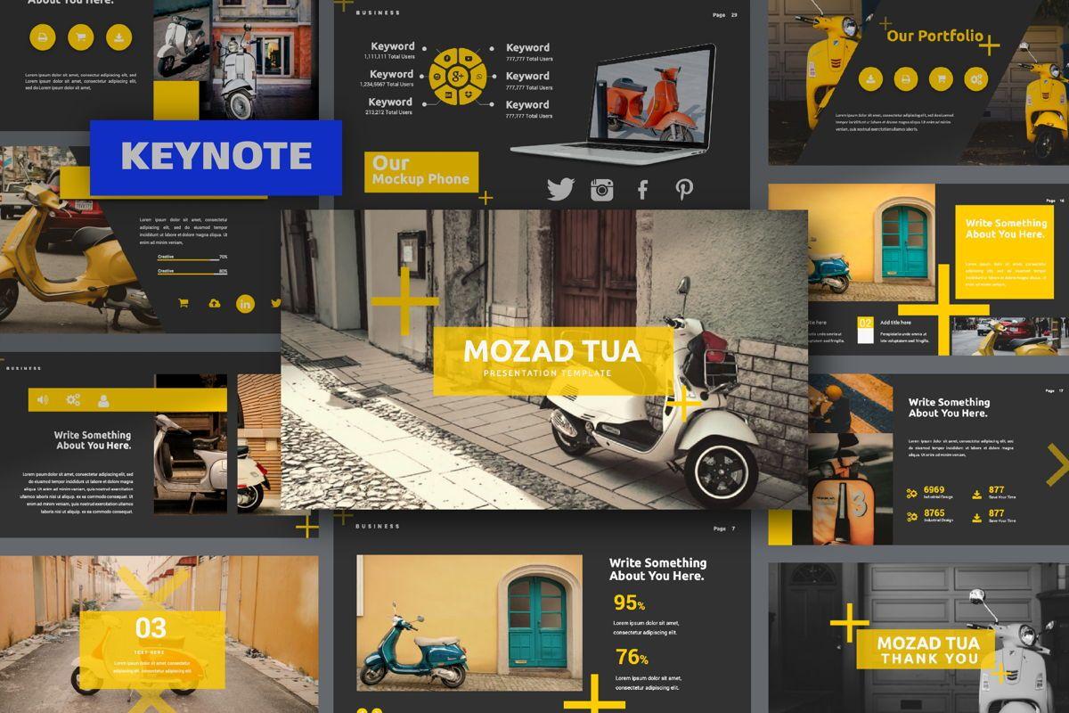 Mozad Tua Creative Keynote, 06310, Presentation Templates — PoweredTemplate.com