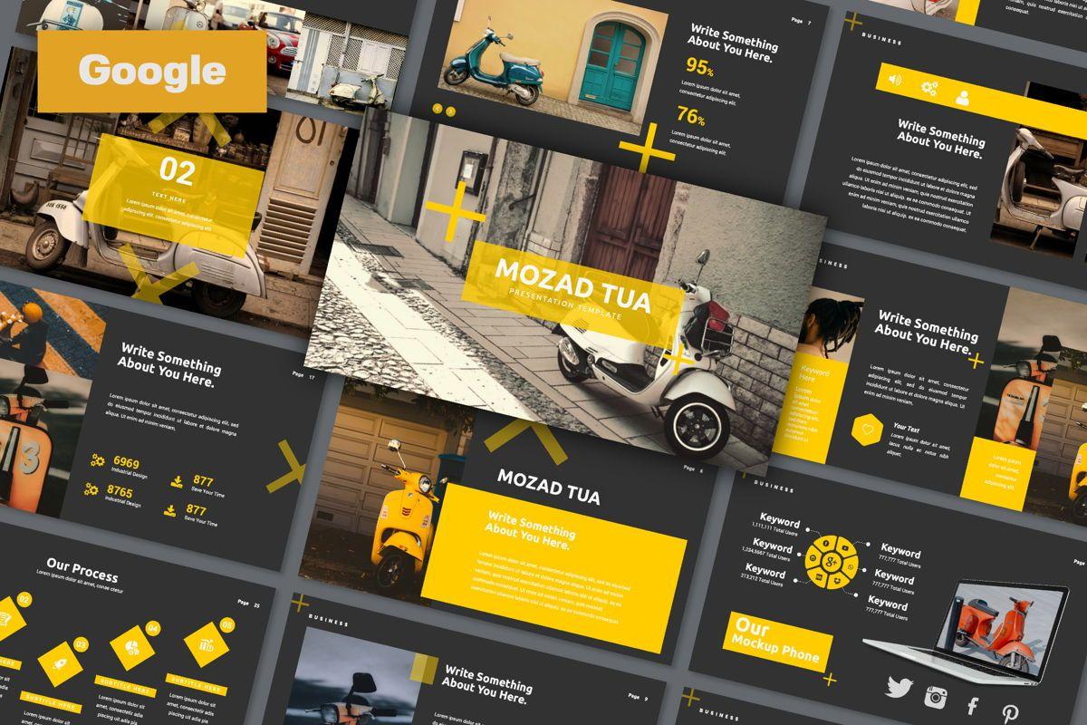 Mozad Tua Creative Google Slide, 06311, Presentation Templates — PoweredTemplate.com