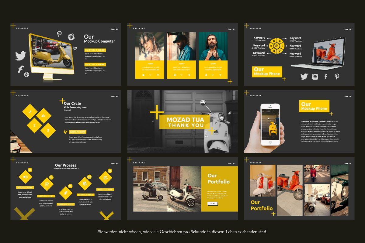Mozad Tua Creative Google Slide, Slide 2, 06311, Presentation Templates — PoweredTemplate.com