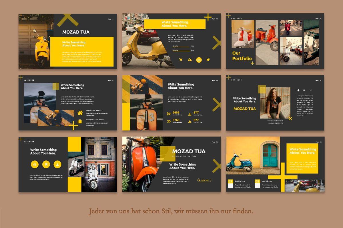 Mozad Tua Creative Google Slide, Slide 4, 06311, Presentation Templates — PoweredTemplate.com