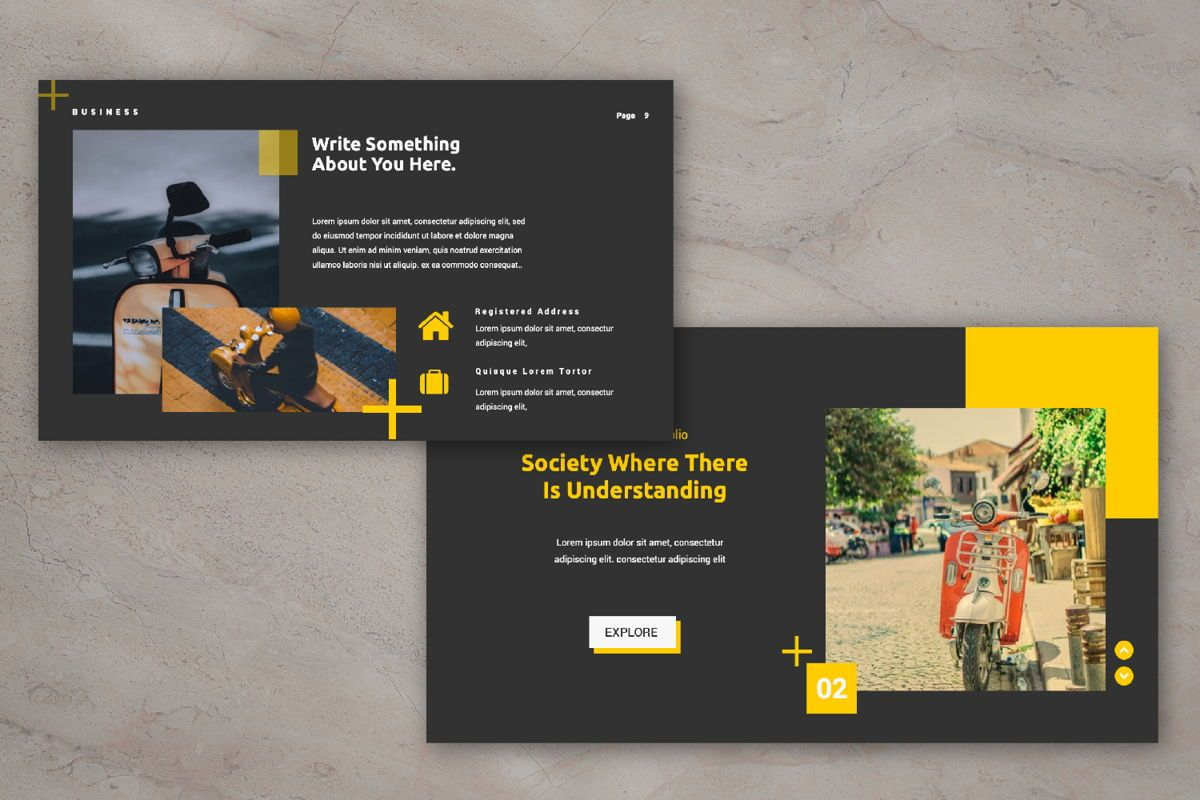 Mozad Tua Creative Google Slide, Slide 5, 06311, Presentation Templates — PoweredTemplate.com