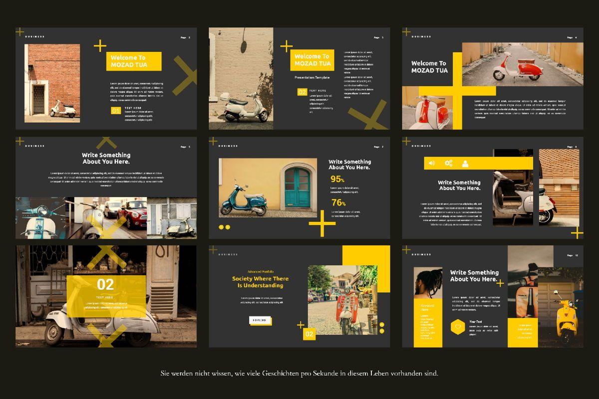 Mozad Tua Creative Powerpoint, Slide 3, 06312, Presentation Templates — PoweredTemplate.com