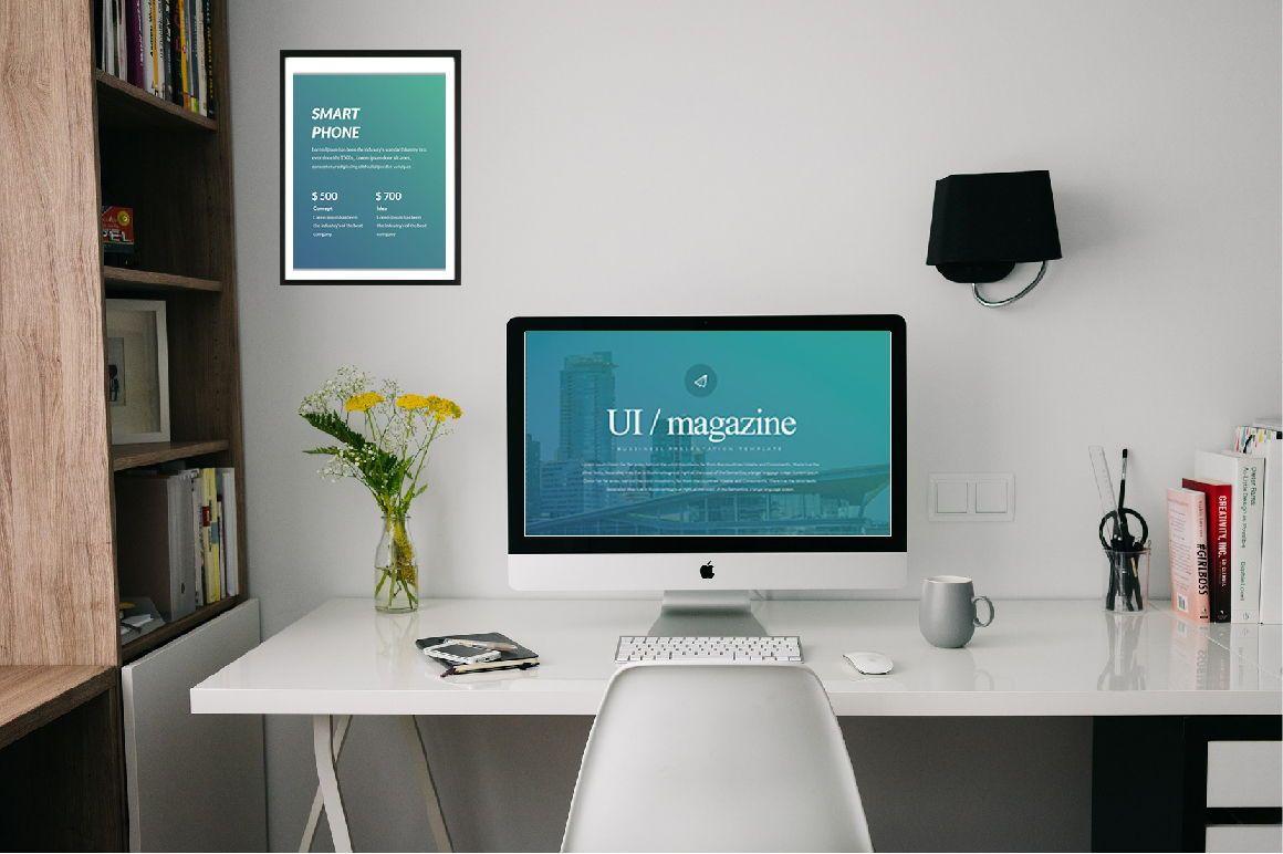UI Magazine Business Keynote, 06319, Presentation Templates — PoweredTemplate.com