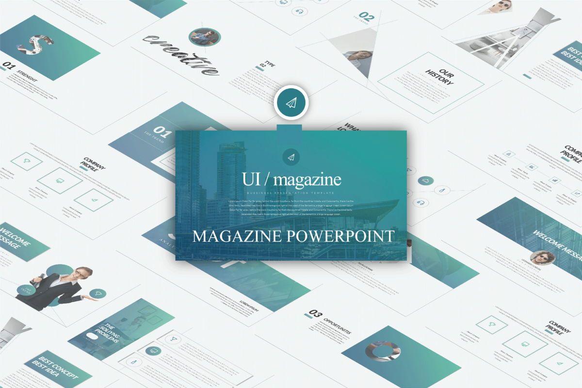 UI Magazine Business Powerpoint, 06320, Presentation Templates — PoweredTemplate.com
