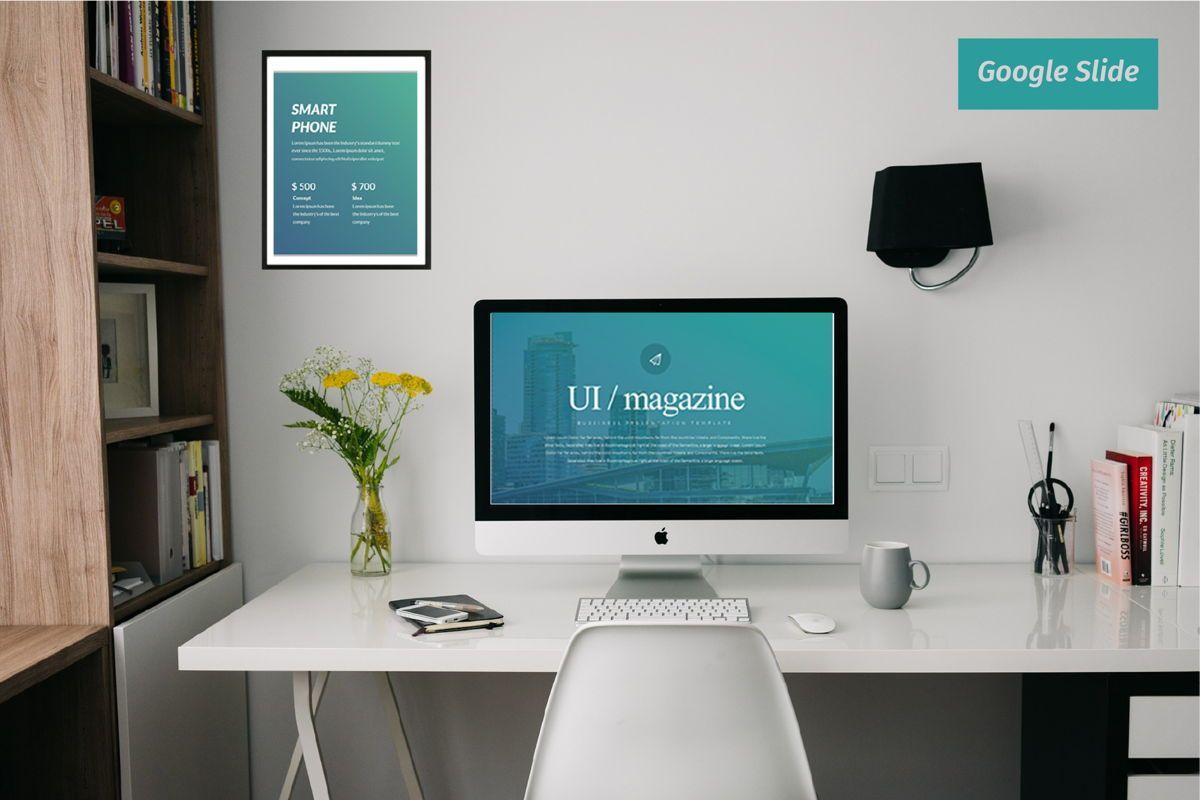 UI Magazine Business Google Slide, 06321, Presentation Templates — PoweredTemplate.com