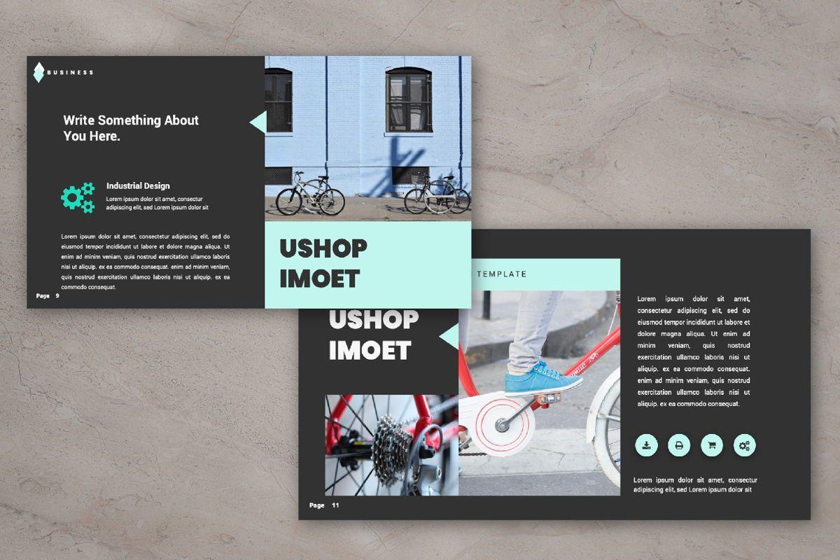 Ushop Imoet Creative Powerpoint, Slide 5, 06322, Presentation Templates — PoweredTemplate.com