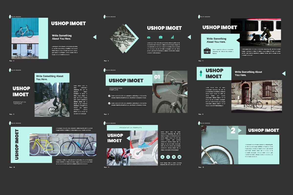 Ushop Imoet Creative Keynote, Slide 3, 06323, Presentation Templates — PoweredTemplate.com