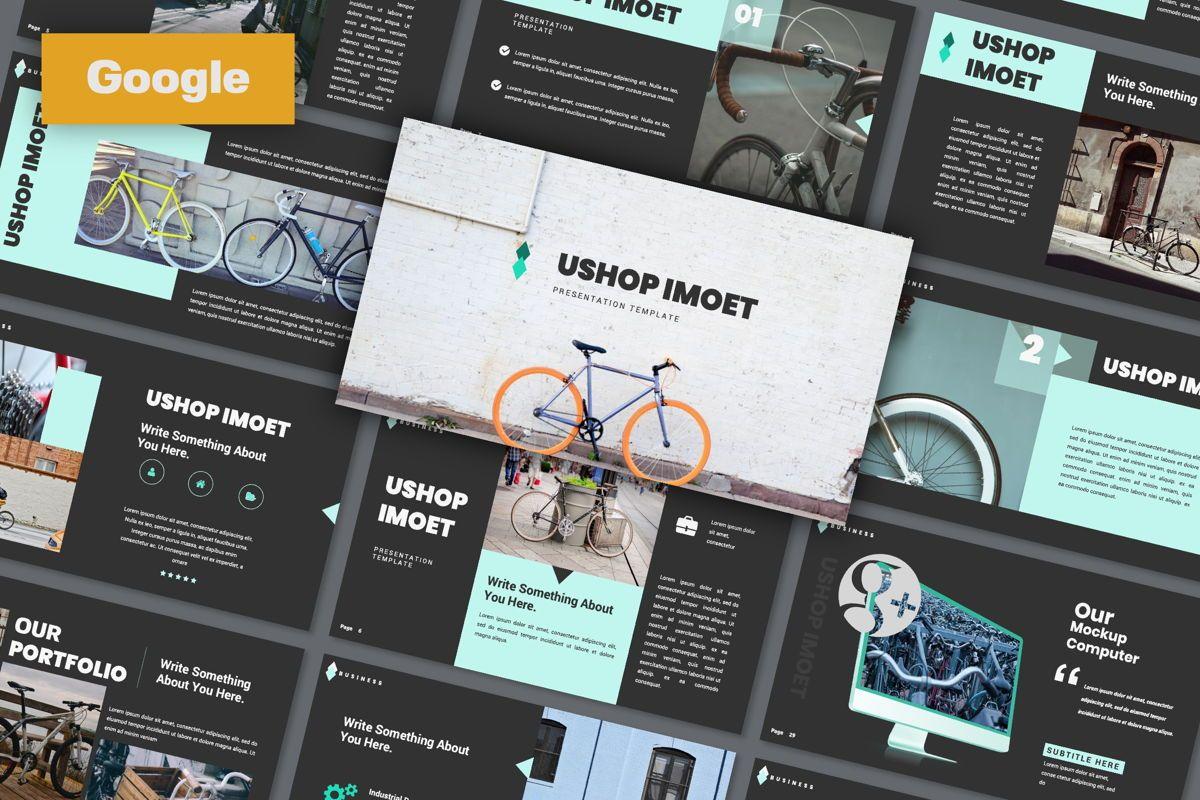 Ushop Imoet Creative Google Slide, 06324, Presentation Templates — PoweredTemplate.com