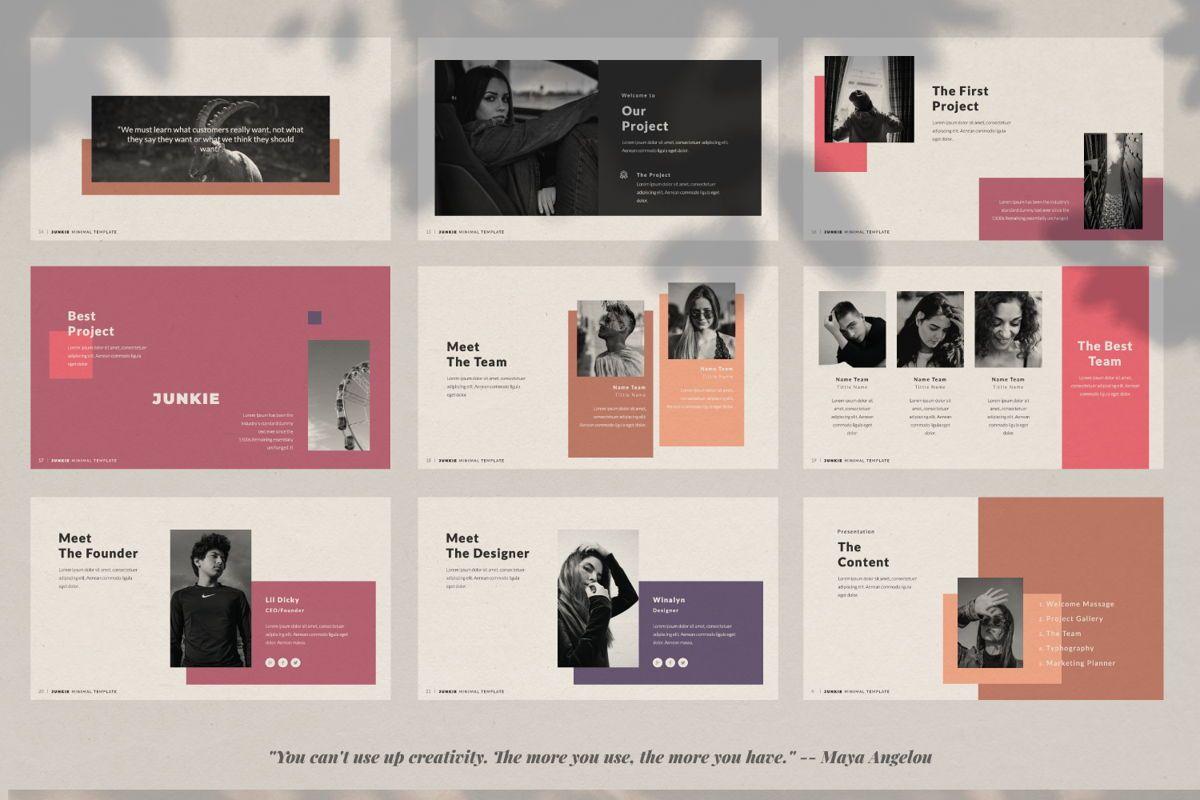 Junkie Creative Powerpoint, Slide 4, 06325, Presentation Templates — PoweredTemplate.com