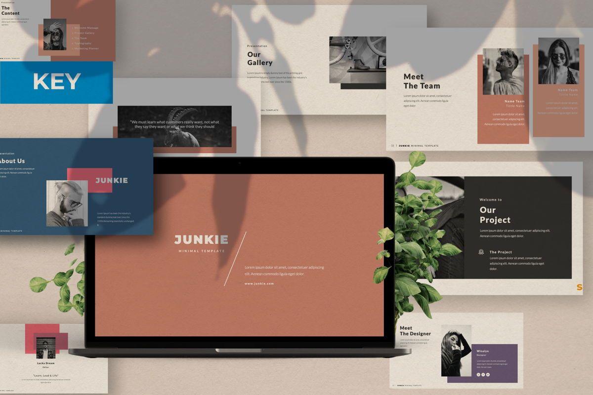 Junkie Creative Keynote, 06326, Presentation Templates — PoweredTemplate.com