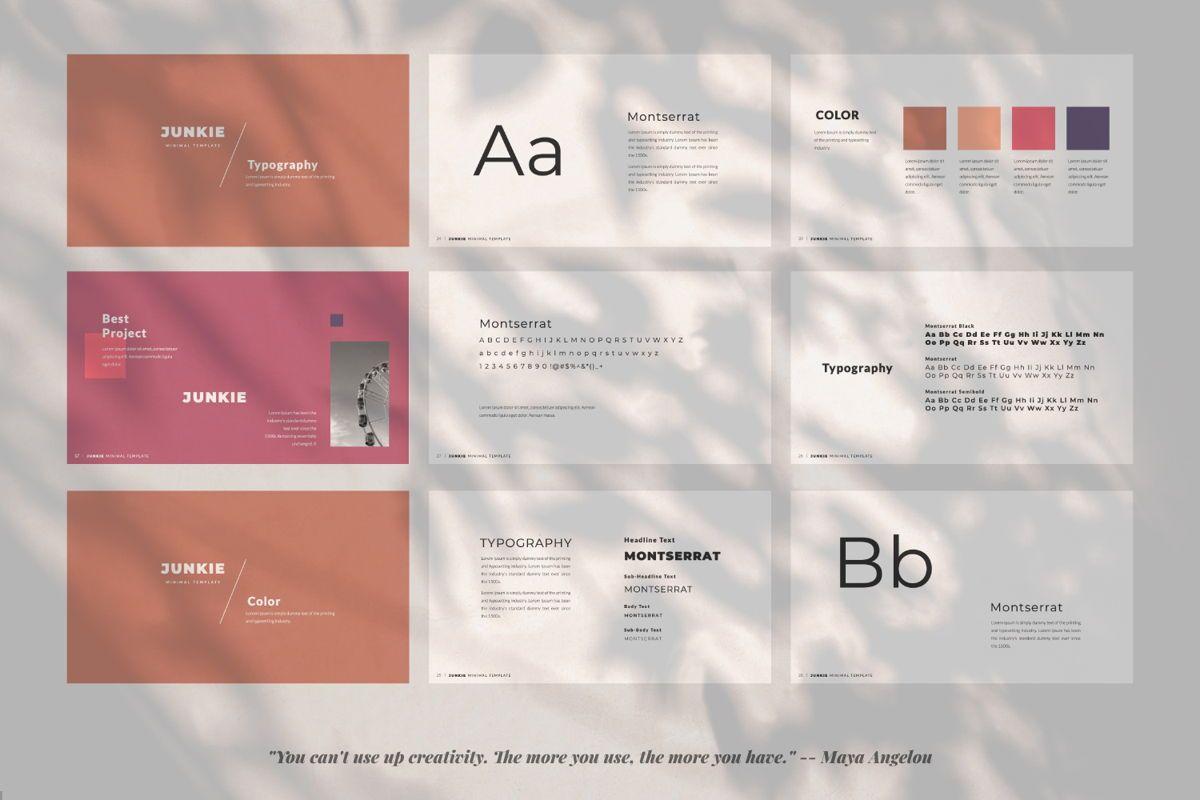 Junkie Creative Keynote, Slide 3, 06326, Presentation Templates — PoweredTemplate.com