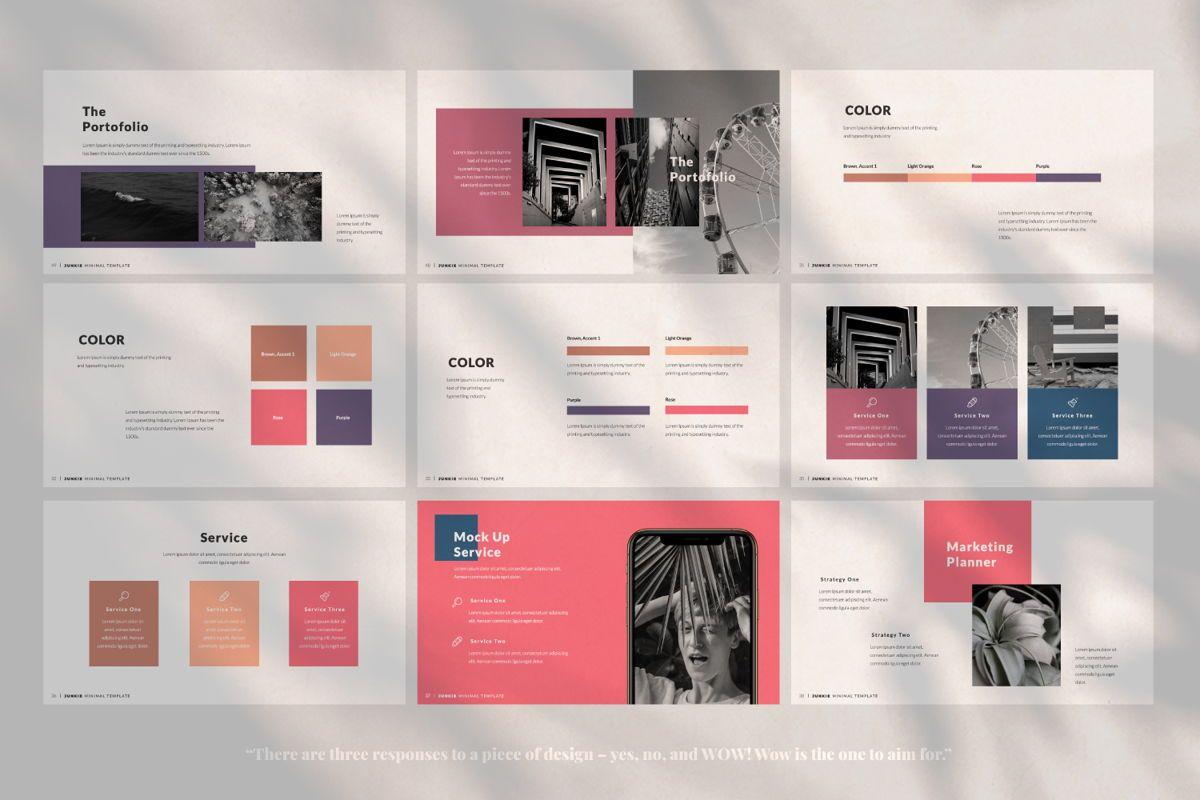 Junkie Creative Keynote, Slide 5, 06326, Presentation Templates — PoweredTemplate.com
