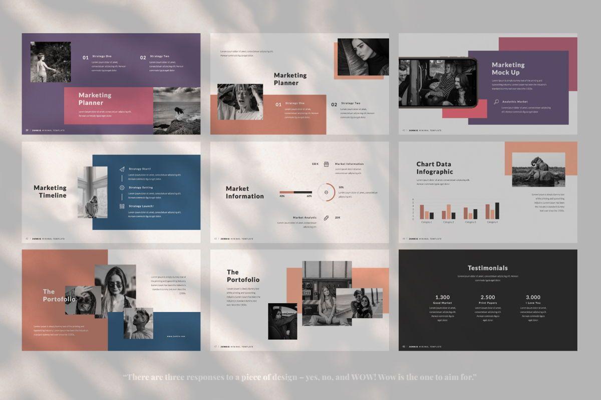 Junkie Creative Keynote, Slide 6, 06326, Presentation Templates — PoweredTemplate.com