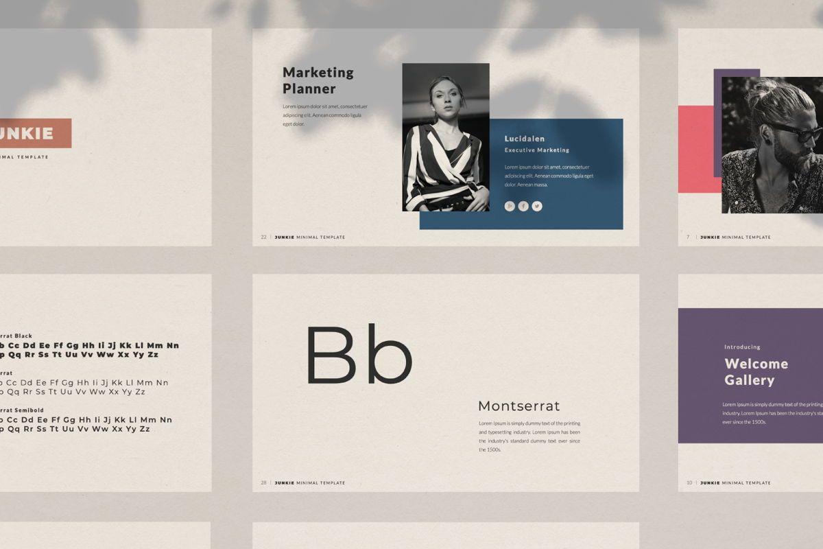 Junkie Creative Keynote, Slide 7, 06326, Presentation Templates — PoweredTemplate.com