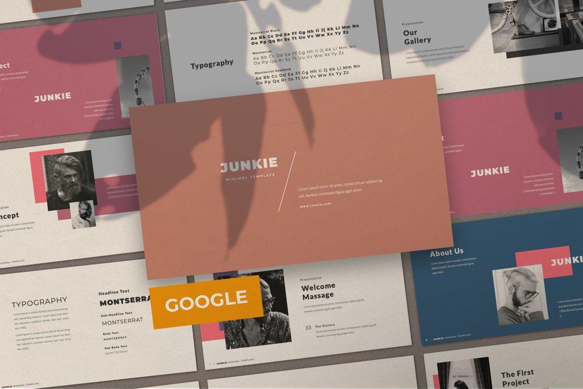 Junkie Creative Google Slide, 06327, Presentation Templates — PoweredTemplate.com