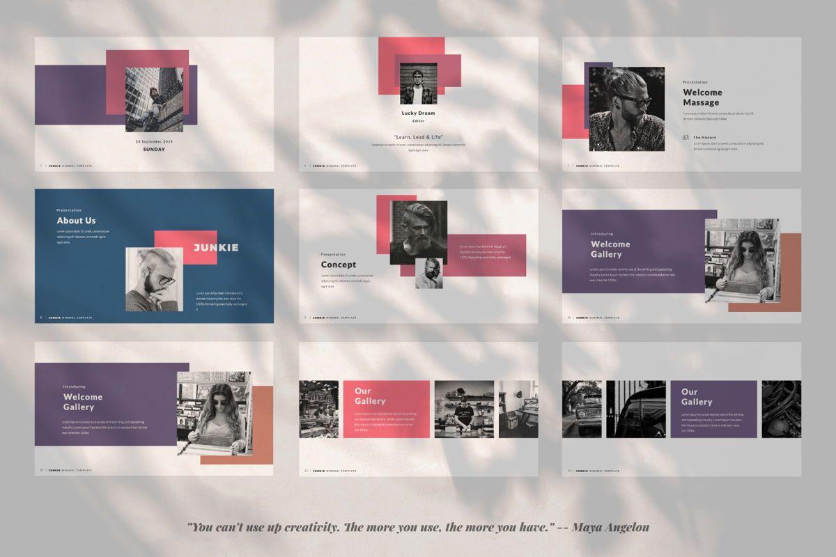 Junkie Creative Google Slide, Slide 2, 06327, Presentation Templates — PoweredTemplate.com