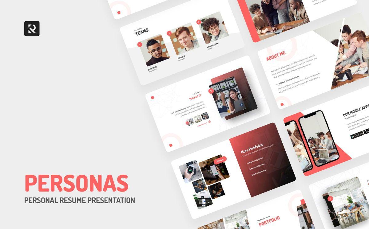 Personas - Personal Portfolio Power Point, Slide 2, 06328, Presentation Templates — PoweredTemplate.com