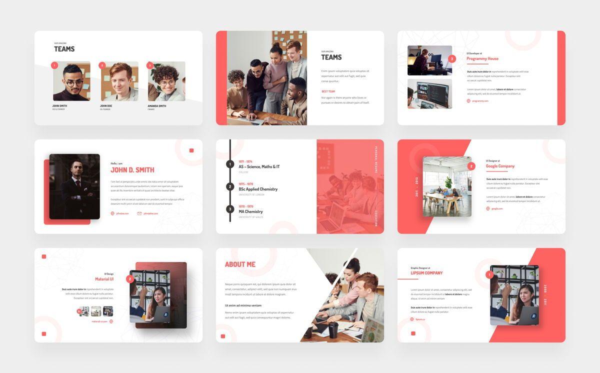 Personas - Personal Portfolio Power Point, Slide 3, 06328, Presentation Templates — PoweredTemplate.com