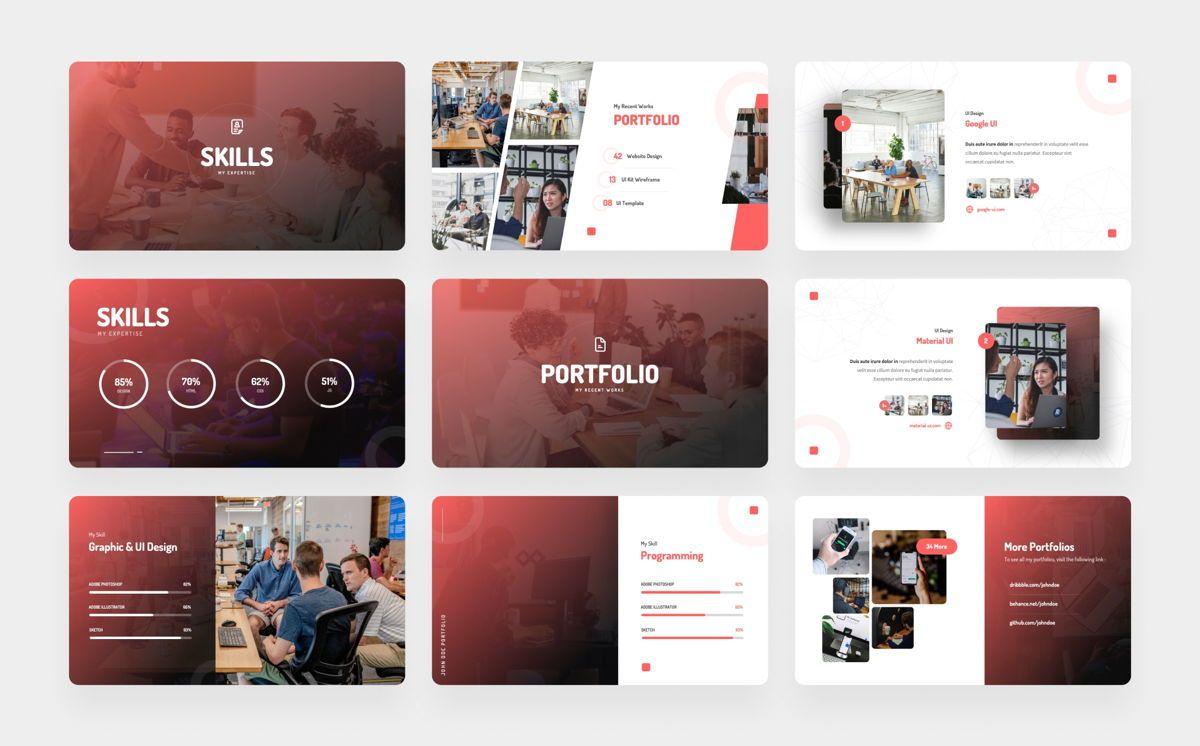 Personas - Personal Portfolio Power Point, Slide 4, 06328, Presentation Templates — PoweredTemplate.com