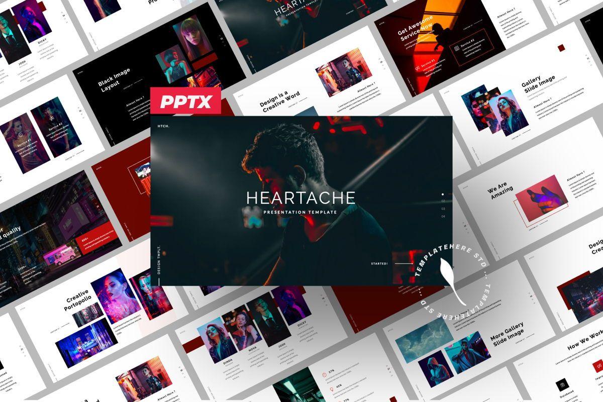 Heartache Creative Powerpoint, 06330, Presentation Templates — PoweredTemplate.com