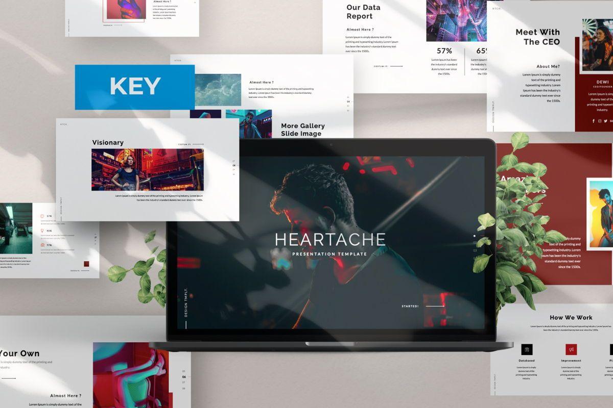 Heartache Creative Keynote, 06331, Presentation Templates — PoweredTemplate.com