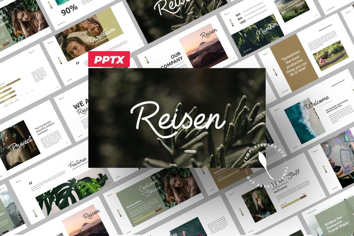 Reisen Creative Powerpoint, 06333, Presentation Templates — PoweredTemplate.com