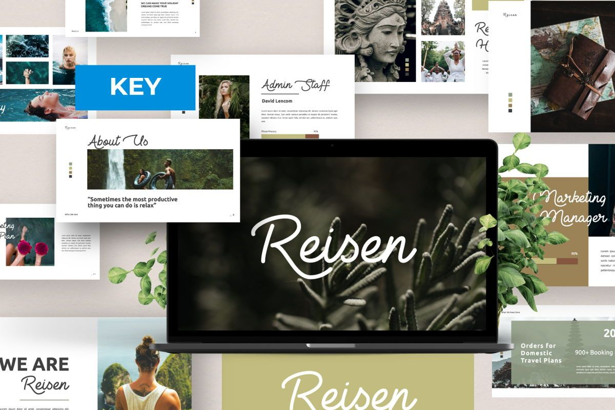 Reisen Creative Keynote, 06334, Presentation Templates — PoweredTemplate.com