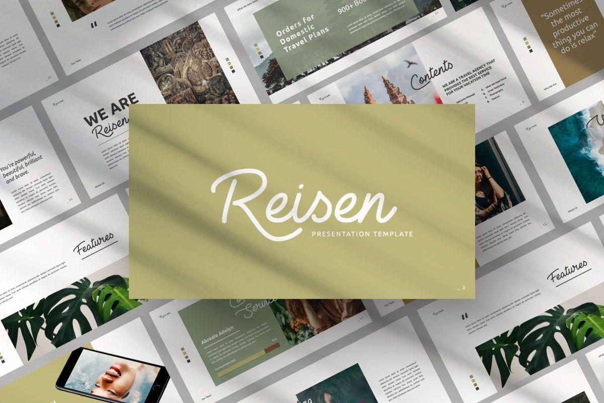 Reisen Creative Google Slide, 06335, Presentation Templates — PoweredTemplate.com