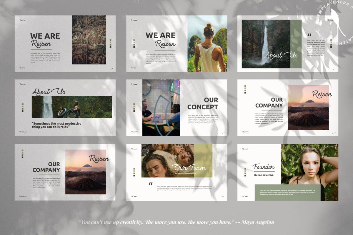 Reisen Creative Google Slide, Slide 2, 06335, Presentation Templates — PoweredTemplate.com
