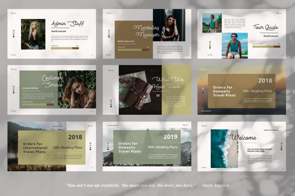 Reisen Creative Google Slide, Slide 3, 06335, Presentation Templates — PoweredTemplate.com